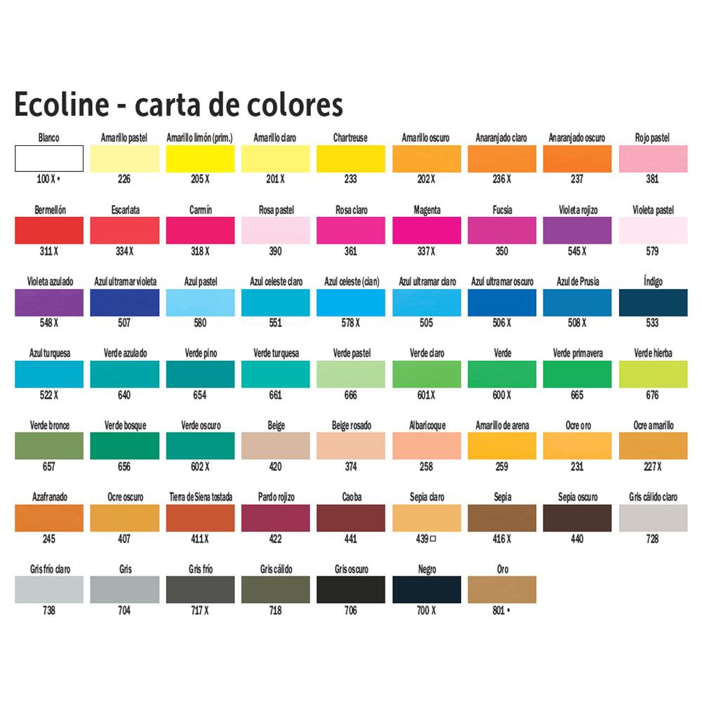 Rotulador de acuarela Brush Pen Ecoline. 29 colores