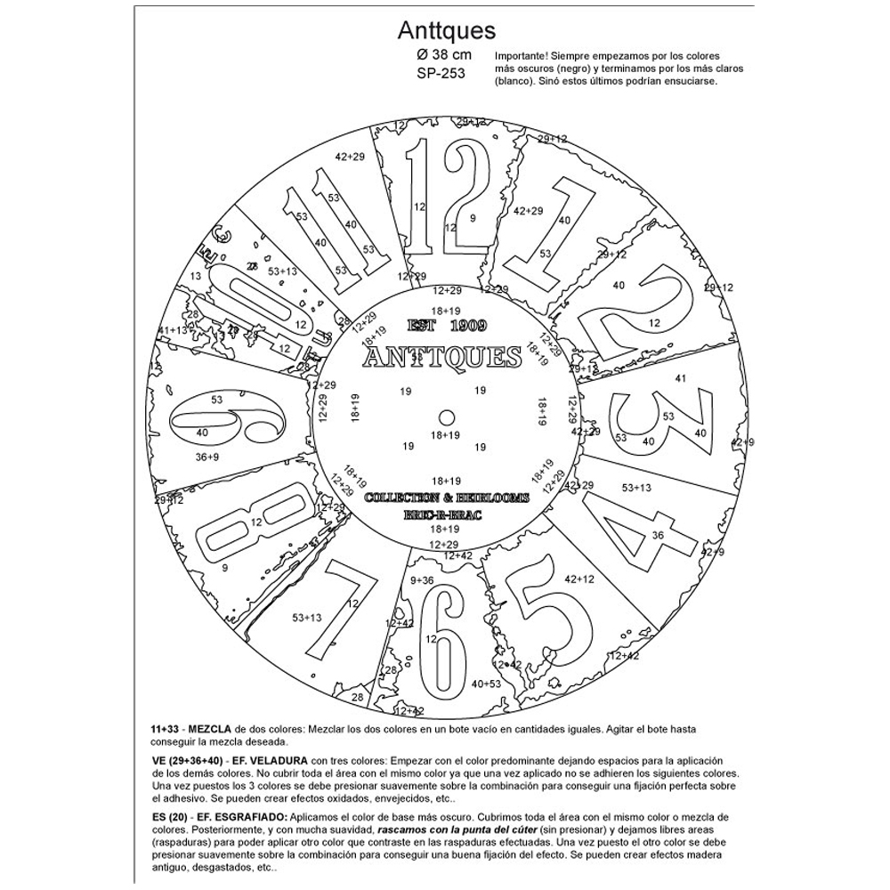 RELOJ Anttques. 2 medidas disponibles Ø 38 y Ø 70 cm