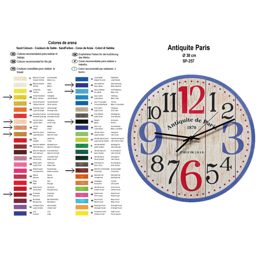RELOJ Antiquite Paris. 2 medidas disponibles Ø 38 y Ø 70 cm
