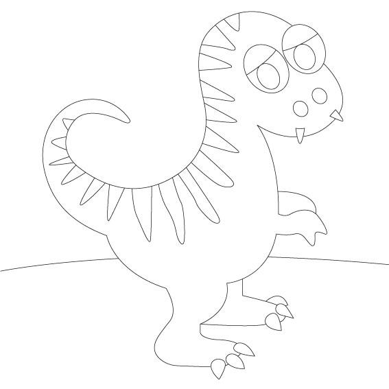 Dinosaurio 1. 20x20 cm Precortado