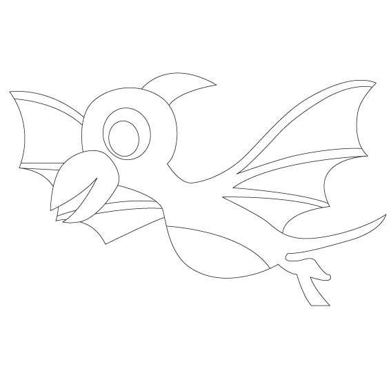 Dinosaurio 4. 20x20 cm Precortado