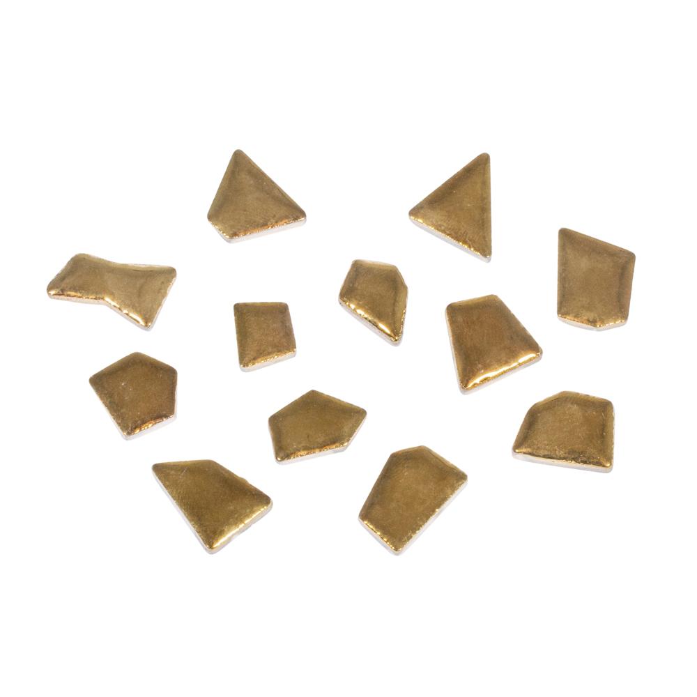 Mosaico de cerámica formas. 80 pzas Oro