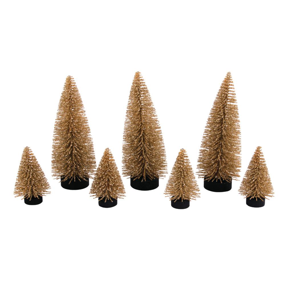 Kit 7 árboles decorativos. 5 y 10 cm de altura