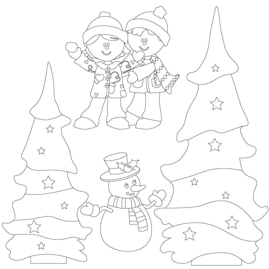 Christmas Scenes Friends