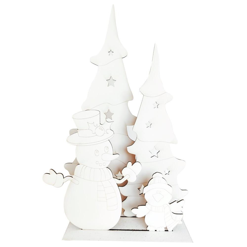 Christmas Scenes Snowman