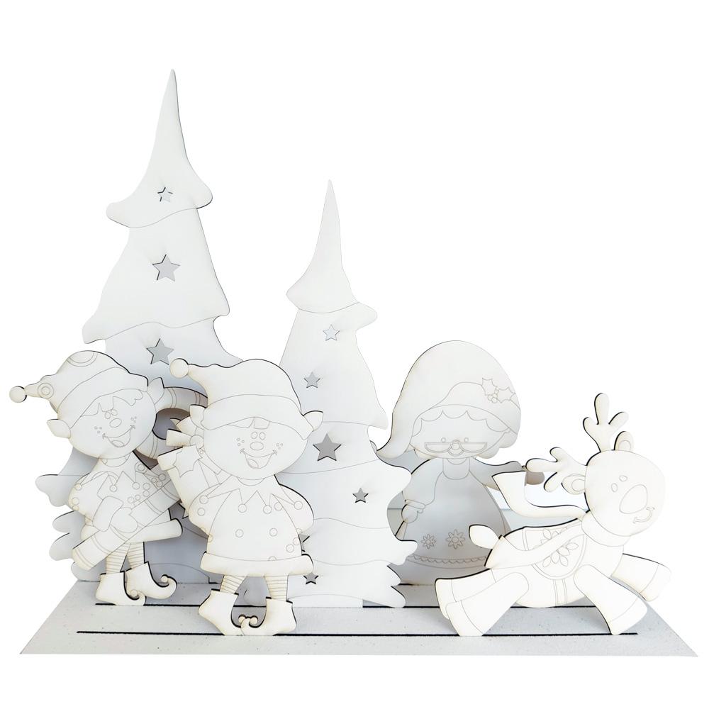 Christmas Scenes Mama Noel
