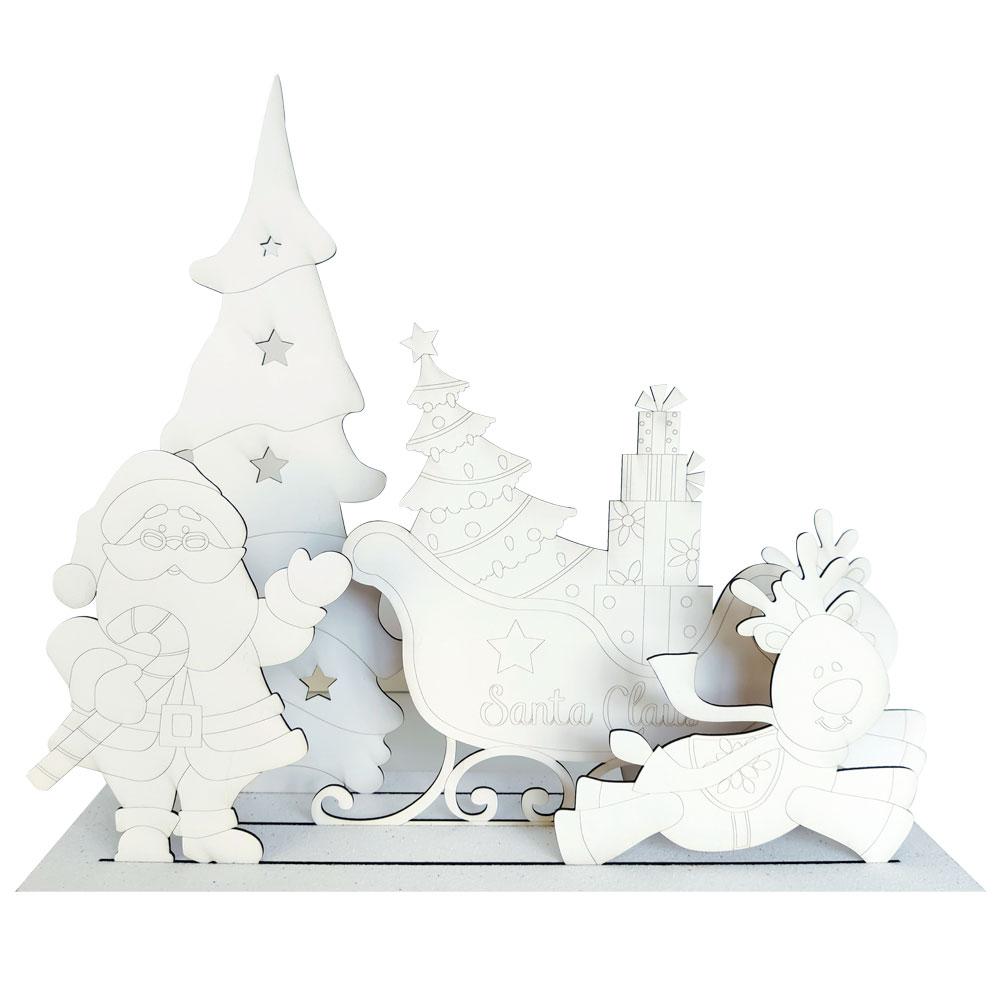 Christmas Scenes Papa Noel