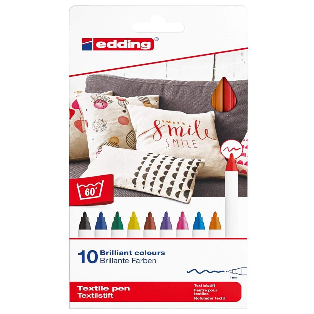 Edding 10 rotuladores para ropa 1 mm. Colores surtidos 2