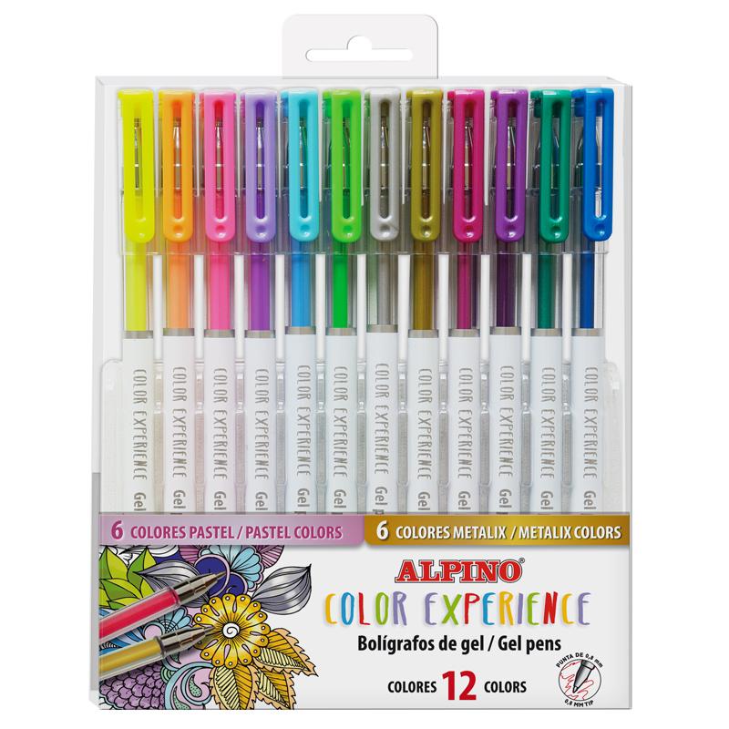 12 Boligrafos de Gel Pastel y metal Color Experience