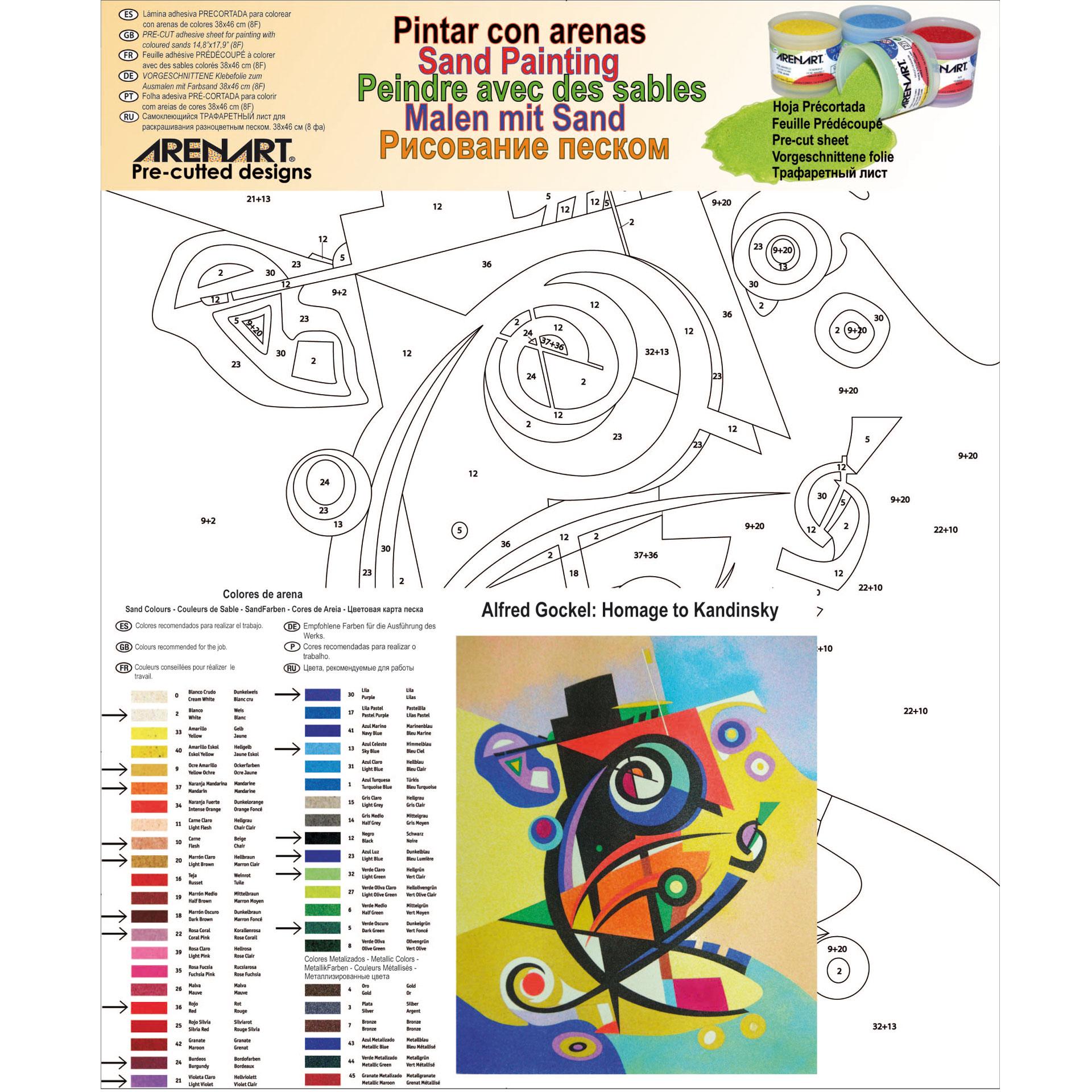Homage to Kandinsky. 38x46 cm
