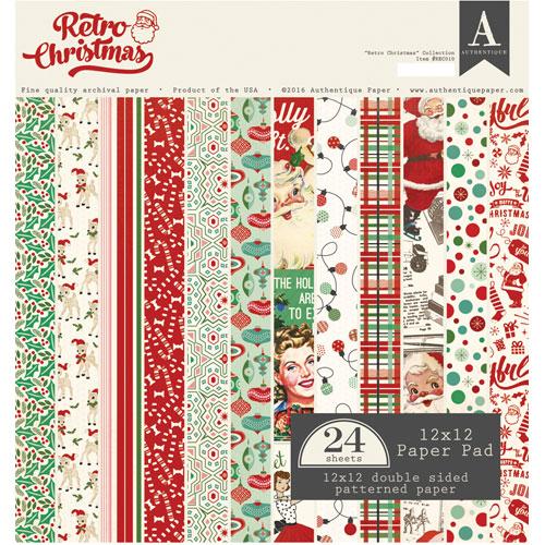 24 papeles 30,5 x 30,5 cm. Retro Christmas