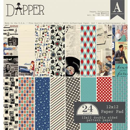 24 papeles 30,5 x 30,5 cm. Dapper