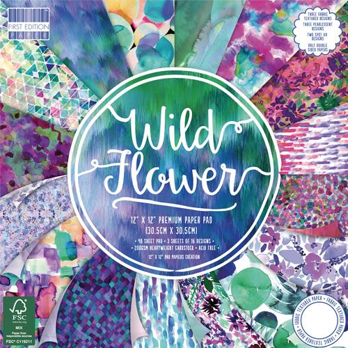 48 papeles 30,5 x 30,5  cm. Wild Flower