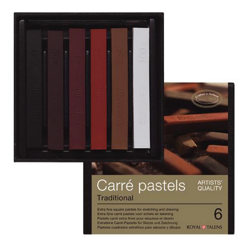 Set 6 barras pastel Carré Rembrandt